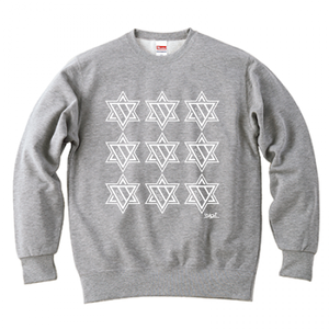 ERICH / NINTH HEXAGRAM CREWNECK SWEAT GRAY