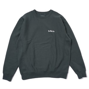 En Plein Air CAMP FIRE CREW NECK SWEATER(FOREST)