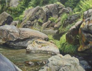 油絵#15「水辺の詩」F6号