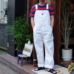 "1990s ""Dickies"" Painters Bib Over-Alls. New Old Stock !! / ディッキーズ 白のオーバーオール Made in USA !!"