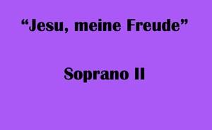 """ソプラノII用 """"Jesu, meine Freude"""" BWV227 Karaoke for Soprano II"""