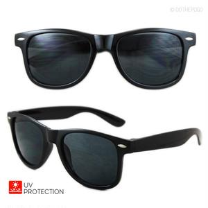 ウェリントンサングラス ブラック スモークレンズ サングラス 黒 UV メンズ レディース ファッション カジュアル おしゃれ ウエリントン