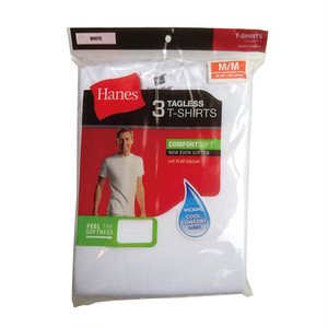 HANES - COMFORTSOFT, TAGLESS MEN'S TALL CREWNECK T-SHIRT (3枚入)