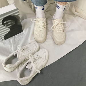 White canvas sneakers LD0706