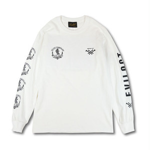 EVILACT(イーブルアクト) × UZ.UZ COMPANY  long sleeve tee (white)