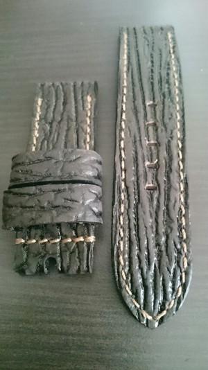 Sold)PANERAI用 ハンドメイド時計Strap 24mm Shark leather 17
