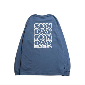 SUNDAY FUNDAY L/S TEE cloud blue