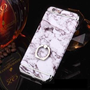 【ホワイト】iphone用 高級感バンカーリング付 カバーケース244