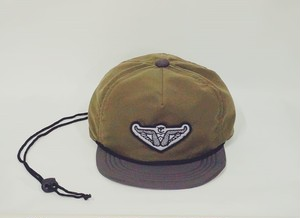 "6パネル message emblem water cap ""GLIDE FOREVER"""