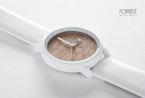 レディース 森の腕時計 ウォールナッツ ホワイト [並行輸入品]