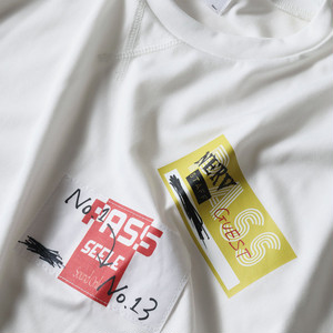 【FLOWER by RADIO EVA 022】Back Stage Pass French Sleeve T-Shirt  WHITE /  EVANGELION エヴァンゲリオン