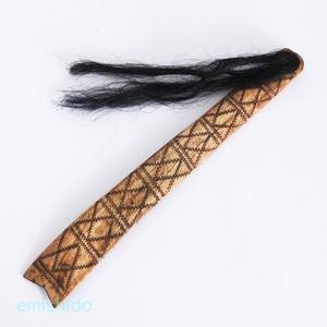 ナガ族。髪の毛がついたレアなヘアピン 0109-OG227