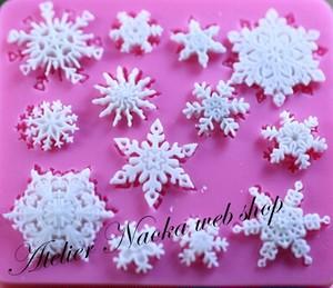 雪の結晶aシリコンモールド