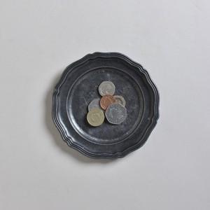 Pewter Tray / ピューター トレイ〈花リム・お皿〉