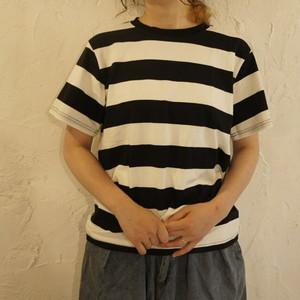 TOPANGA fashion BIGボーダーTシャツ ブラック
