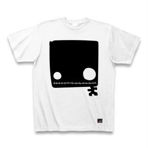 四角い黒ドクロTシャツ