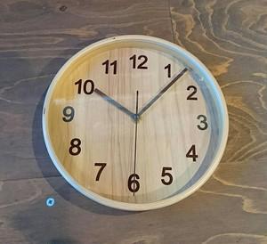 プライウッド 掛け時計