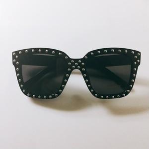 Eyewear♡ウェリントン01 ブラック シルバースタッズ