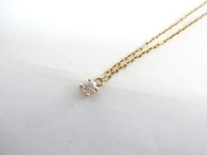 【完売しました】ダイヤモンドトップ ネックレス K18 0.16ⅽt