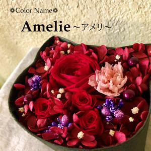 ねこばこ  Amelie アメリ オリジナル猫型フラワーボックス プリザーブドフラワー