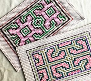 シピボ族の刺繍 カフェマット