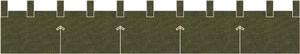 麻糸風カウンター用防炎のれん:ちとせ緑