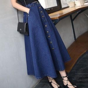 【ボトムス】大人気ファッションデニムAラインハイウエストスカート26847277