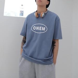 フロントロゴプリントTシャツ BL6159