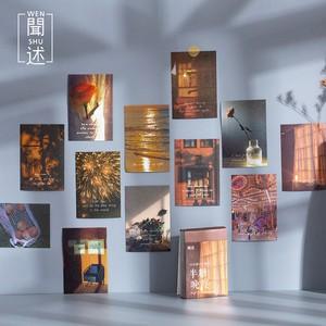 ブック型ステッカー シール 全6種 コラージュ素材 ミニサイズ 森林 夕焼け 昭和 日常 月 風景画 海外 G06
