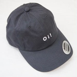 Oi! COTTON BASEBALL CAP CHARCOAL