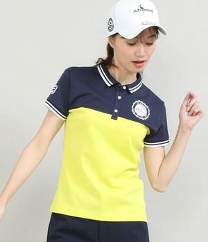 【吸水速乾】【UV】カラーブロック半袖ポロシャツ