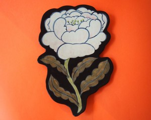"""Imustan 《花》 Plate/Wall Decoration  """"Flower"""" by Imustan"""