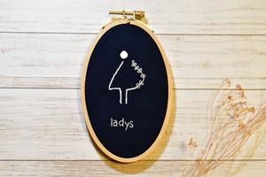 ladys 扉ボード (ネイビー)