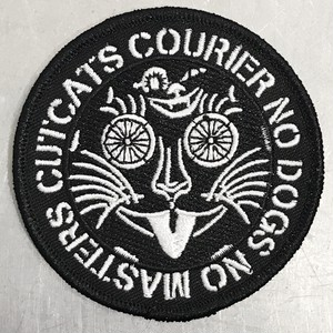 "CUT CATS COURIER ""NO DOGS NO MASTERS 3"" PATCH"""