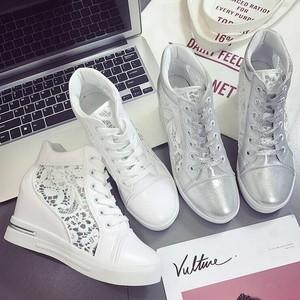 レディース メッシュ ハイカット スニーカー 厚底 A-2 / Women's Rhinestone Mesh High-cut Sneakers (DCT-545338255719_A-2)