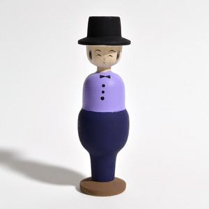 紳士こけし 約4寸 約12cm 田山和泉 工人(南部系)#0018