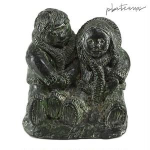 ウルフオリジナル エスキモー イヌイット ソープストーン 彫像