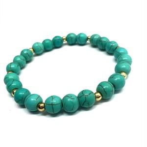 243 【完全天然石】2本セットブレスレット 数珠