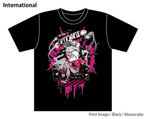 [Black / Monocolor] Special T-shirt of Collaboration Design by Kazutaka Kodaka (Tookyo Games) and jbstyle.