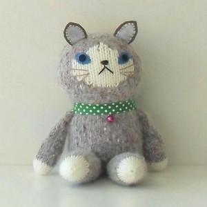 編みぐるみ     (抱っこちゃんねこグレー)