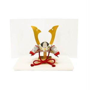 青森県 櫛引八幡宮の国宝  白糸威褄取鎧の兜