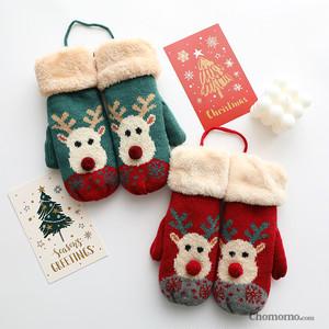 【小物】ファッション合わせやすいクリスマスプリント手袋24995219