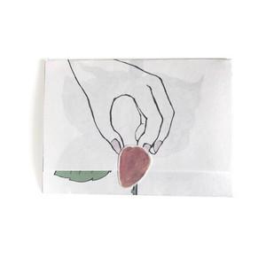 開いていく一筆箋 薔薇