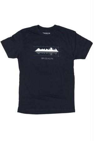*ブルックリンインダストリーズ*お洒落なスカイラインTシャツ 紺 BROOKLYN INDUSTRIES 日本未発売