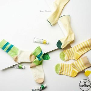 «予約» stripe socks yellow 3set  ストライプ ソックス イエローセット 靴下