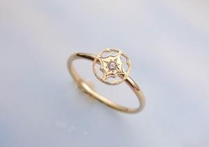 ダイヤモンド*anfiedo K18gold ring*