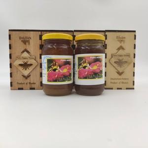 ブータン産はちみつ Pure Happy Honey セット (ホワイトクローバー &ピンクのそばの花) 275g 各2瓶セット