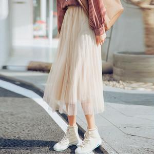 【bottoms】合わせやすいファッション無地スカート20284424