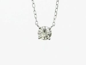 お買得!【PT900】0.30ct UP ダイヤモンドネックレス