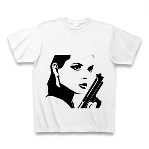 モノクロのビックデザインTシャツ